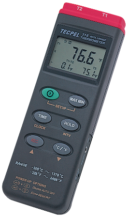 Temperature datalogger digital thermometer recorder Tecpel DTM-319  4-input